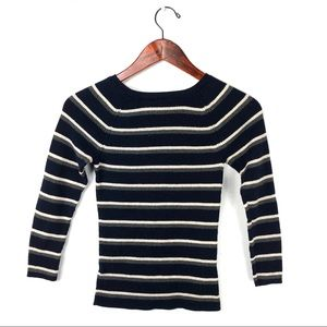 Anthropologie moth sweater pullover knit stripe